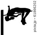 オリンピック競技 シルエット 棒高飛び 高跳び 女子 02 61866202