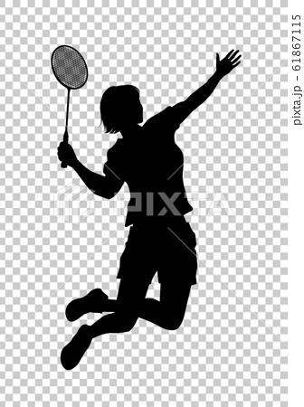 オリンピック競技 バドミントン 女子 03のイラスト素材