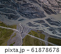 Aerial view of glacier river in Iceland 61878678