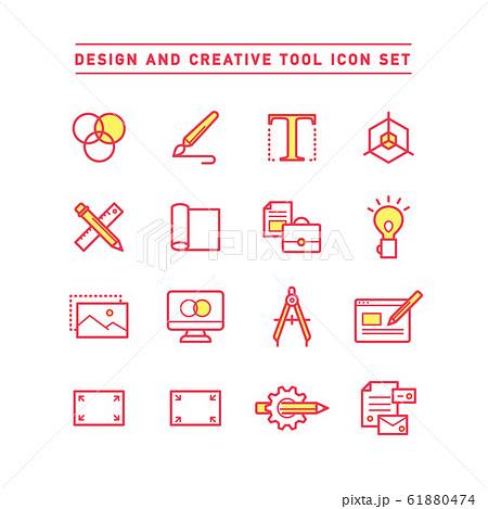 DESIGN AND CREATIVE TOOL ICON SET 61880474