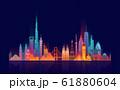 World skyline. Travel and tourism background. 61880604