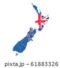 ニュージーランド  国旗 地図 アイコン 61883326