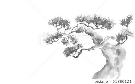 松 縁起物 正月 水彩 イラスト 背景 61886121