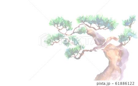松 縁起物 正月 水彩 イラスト 背景 61886122