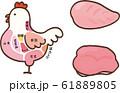 ニワトリの部位 胸肉 もも肉 61889805