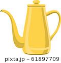 黄色くて長いやかんのイメージイラスト 61897709