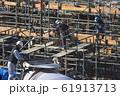 新築マンション コンクリート打設作業風景 61913713