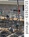 新築マンション コンクリート打設作業風景 61913715