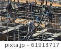 新築マンション コンクリート打設作業風景 61913717