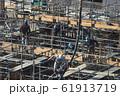 新築マンション コンクリート打設作業風景 61913719