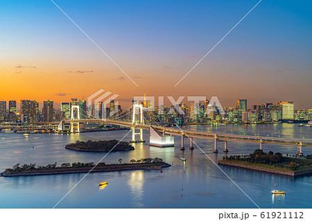 はちたまから見るレインボーブリッジのマジックアワー 【東京都】 61921112