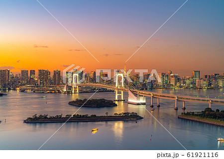 はちたまから見るレインボーブリッジのマジックアワー 【東京都】 61921116