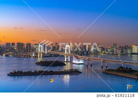 はちたまから見るレインボーブリッジのマジックアワー 【東京都】 61921118