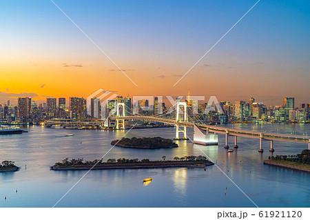 はちたまから見るレインボーブリッジのマジックアワー 【東京都】 61921120