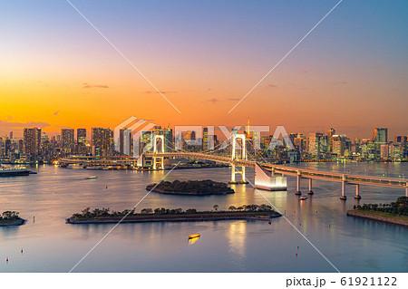 はちたまから見るレインボーブリッジのマジックアワー 【東京都】 61921122