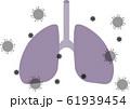 新型肺炎コロナウイルスイラスト 61939454