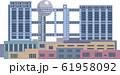 イラスト素材 東京 建物・ランドマーク・ビルイラスト / お台場フジテレビ 61958092