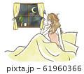 不眠症・寝付けない女性 61960366