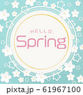 円-丸-Hello Spring-ペーパークラフト-桜 61967100