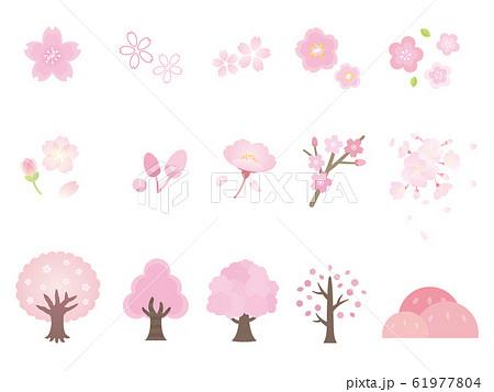 かわいい桜のイラストセット 61977804