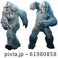Yeti or abominable snowman 3D illustration 61980858