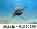 Eurhinosaurus from the Jurassic era 3D illustration 61980860