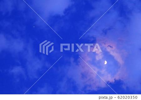 半月と木星のランデブー 62020350