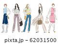 女性のファッションイラスト 62031500