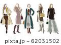 女性のファッションイラスト 62031502
