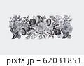 19世紀のビクトリア調花のスクロールデザイン 62031851