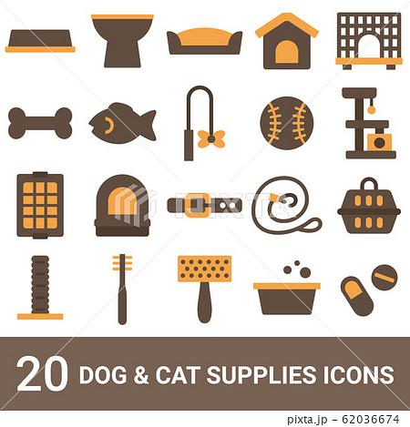 商品アイコン 犬用品 猫用品 カラー 20セット 62036674