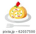 ロールケーキ 苺 生クリーム 62037500