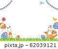 イースター フレーム 背景 水彩 イラスト 62039121