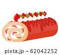 ロールケーキ 苺 生クリーム 62042252