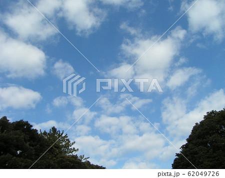 2月の青い空と白い雲 62049726
