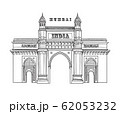 Mumbai city icon. Architectural symbol of Mumbai. 62053232