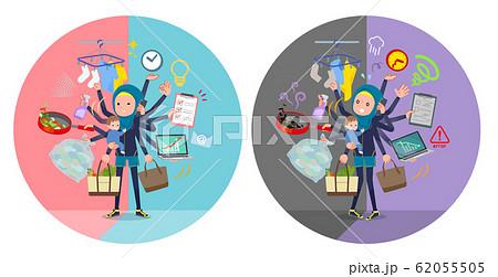 flat type Arab women Navy Sportswear_mulch task 62055505
