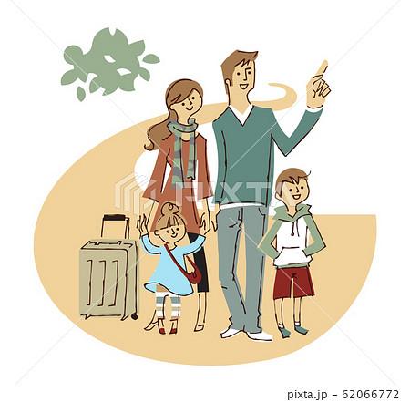 旅行に出かける家族 62066772