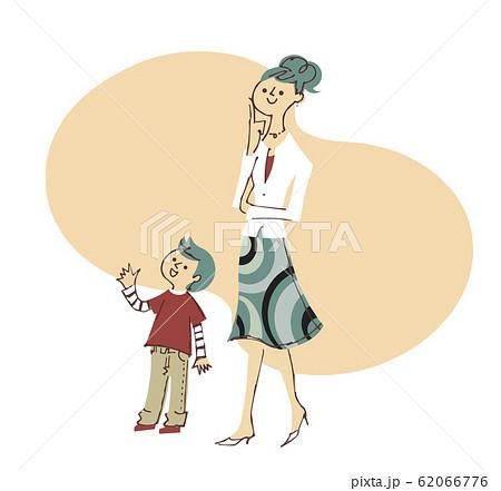 お母さんと男の子 62066776