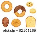 ドーナツとお菓子の水彩風イラストセット 62105169