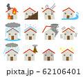 住宅の災害の被害セット  62106401
