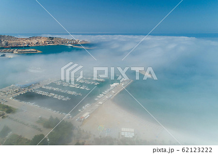 aerial view of the city of Bar under a low cloud 62123222