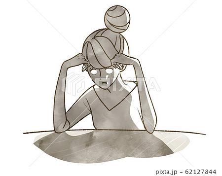 放心状態で固まる女性 62127844