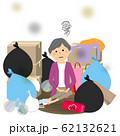 ゴミと高齢者 シニア女性 62132621