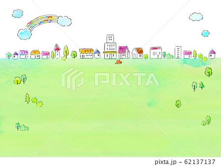 自然風景 住宅 水彩 62137137