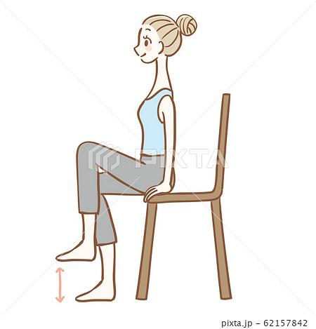 椅子に座ってできるストレッチ 62157842