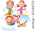 家族で冬のレジャー 62160723