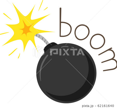 Bomb Onomatopoeia Sound Boom Illustration 62161640