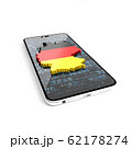 Map of Germany on the phone. Guide to Germany. How to get to Germany. 3D illustration. 62178274