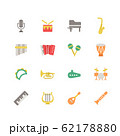 MUSICAL INSTRUMENT ICON SET 62178880